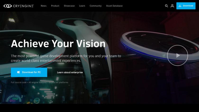 CryENGINE Landing Page