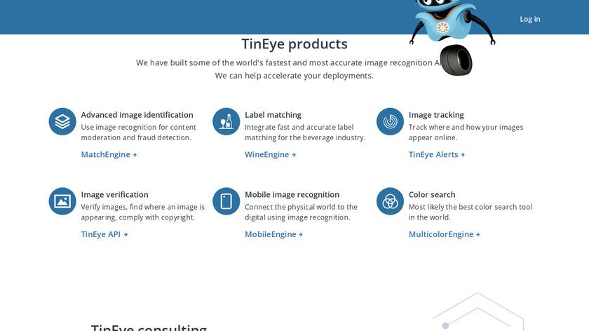TinEye Landing Page