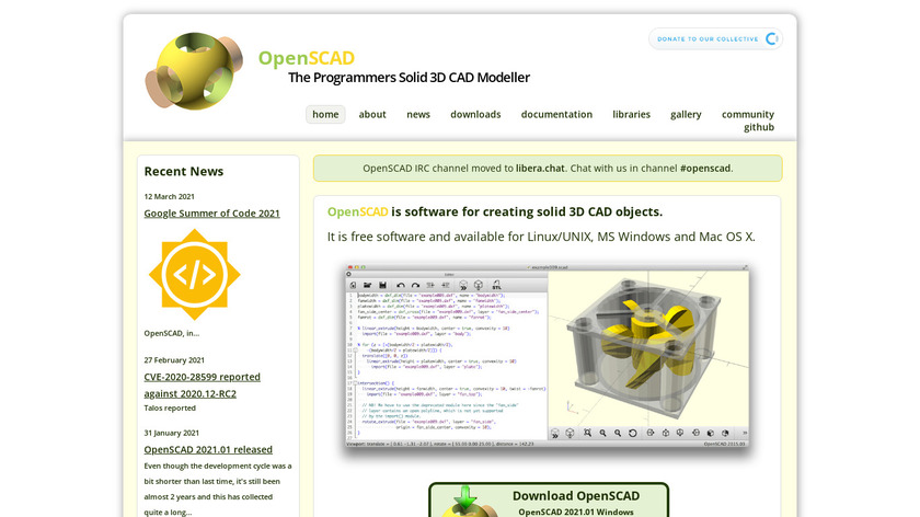 OpenSCAD Landing Page