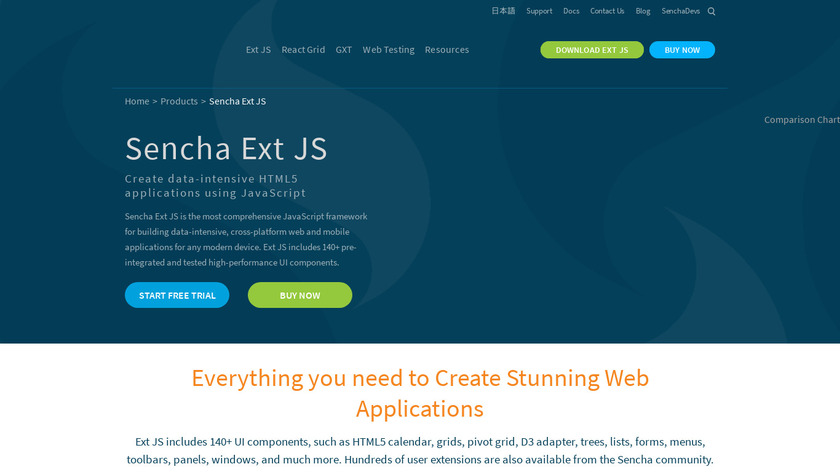Ext JS Landing Page