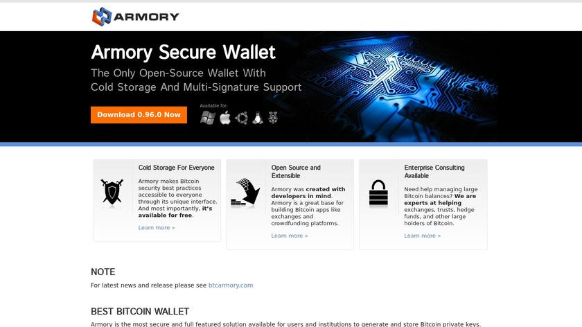 Bitcoin Armory Landing Page