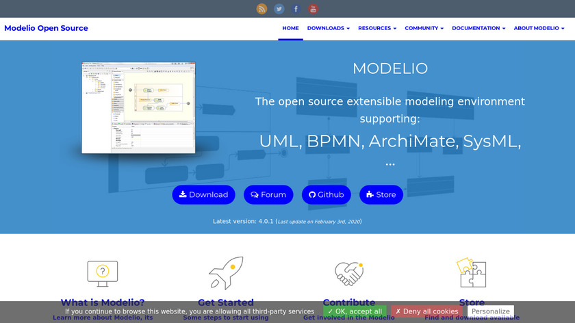 Modelio Landing Page