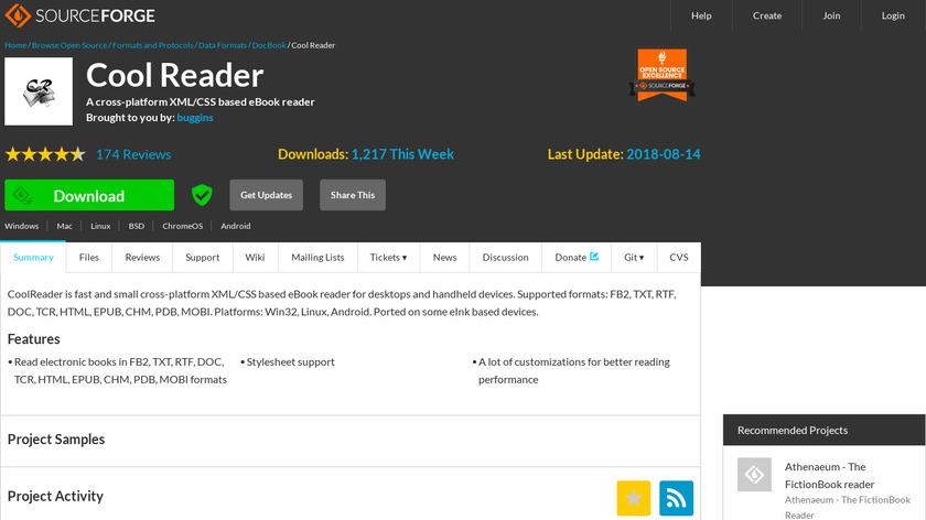 Cool Reader Landing Page
