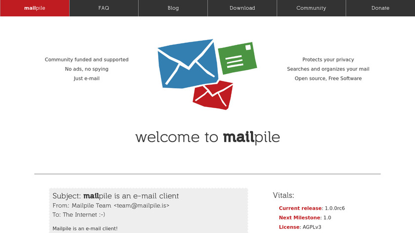 Mailpile Landing Page