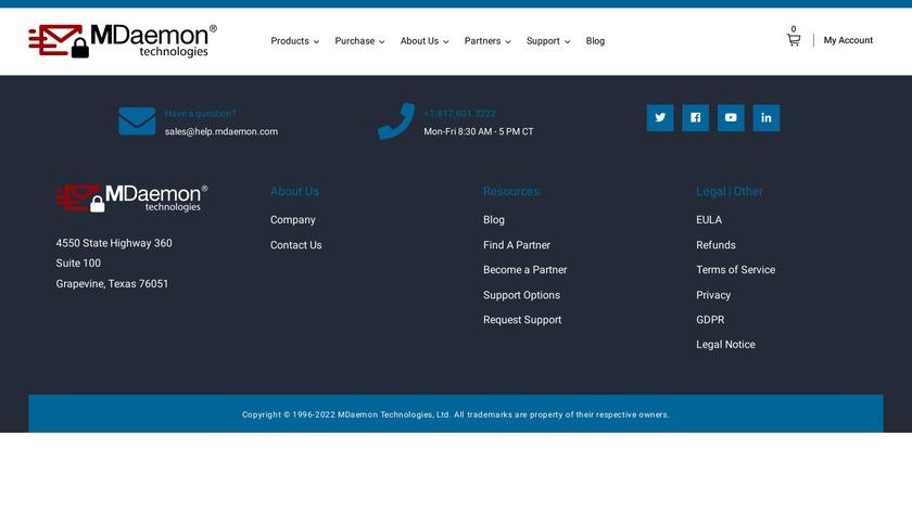 MDaemon Messaging Server Landing Page