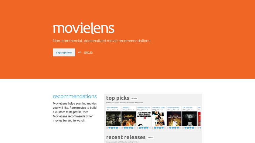 MovieLens Landing Page