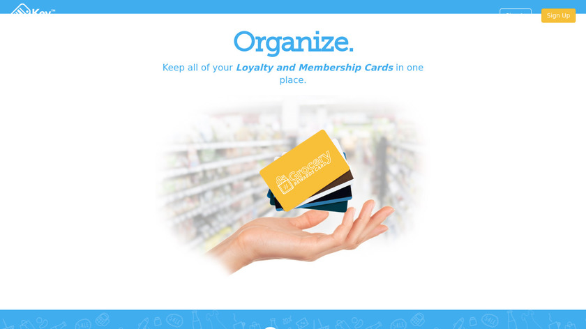 Key Ring Reward Cards Landing Page
