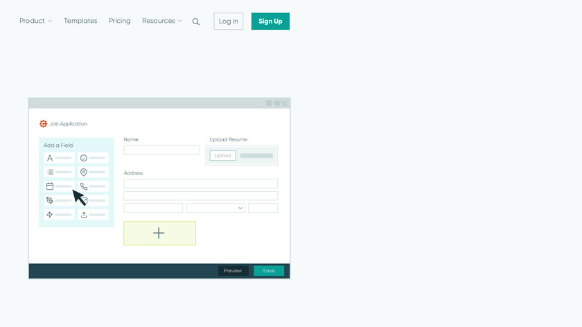 Cognito Forms Landing Page
