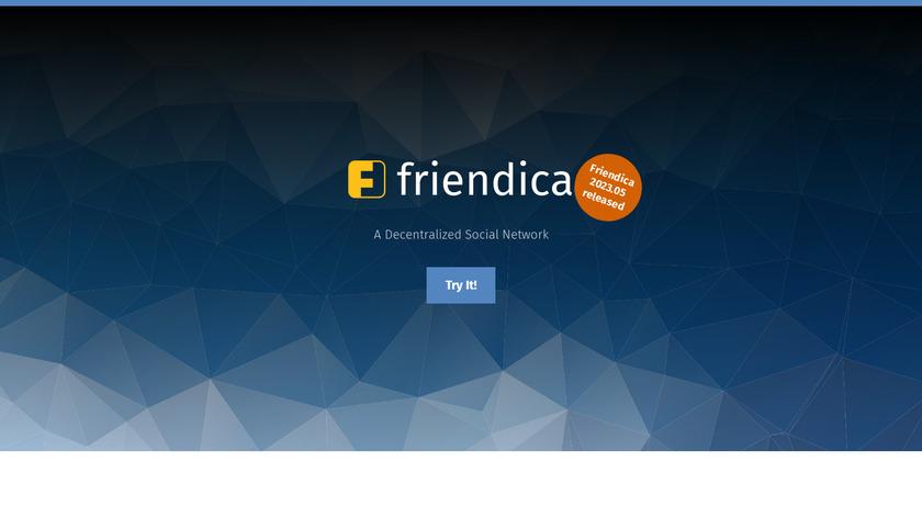 Friendica Landing Page