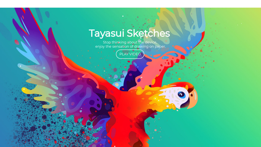 Tayasui Sketches Landing Page