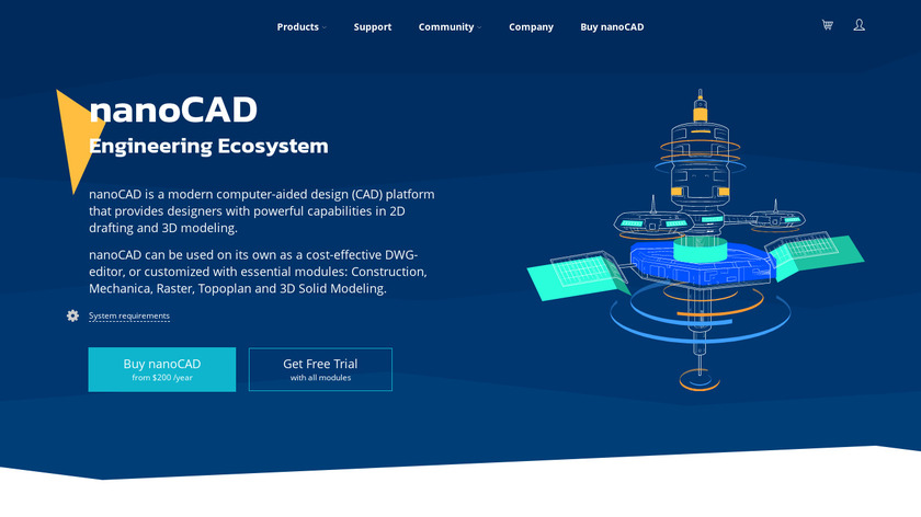nanoCAD Landing Page