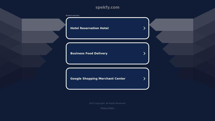Spekfy Landing Page