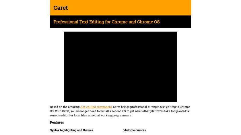 Caret Landing Page
