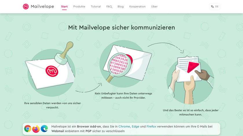 Mailvelope Landing Page