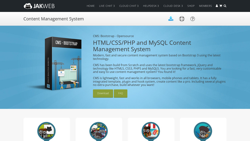 Bootstrap CMS Landing Page