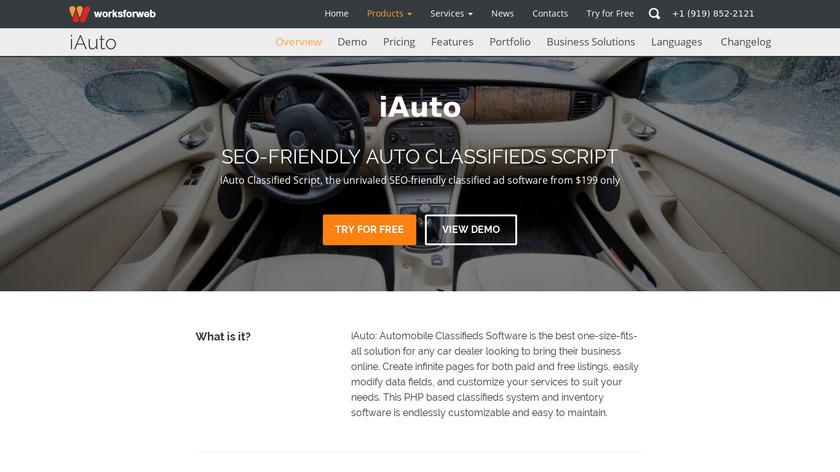iAuto Landing Page