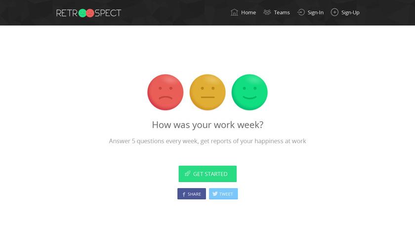 Retroospect Landing Page