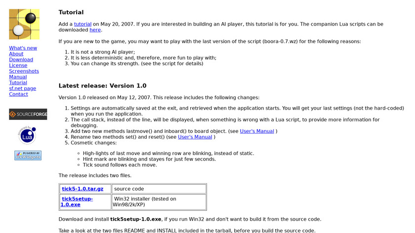 Tick5 Landing Page