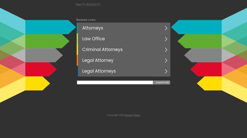 Tech4Law Landing Page