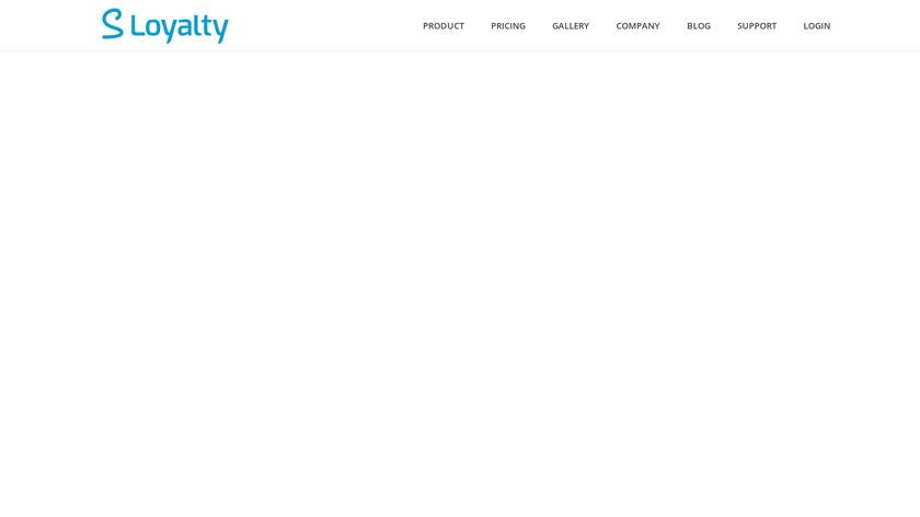 Sloyalty Landing Page