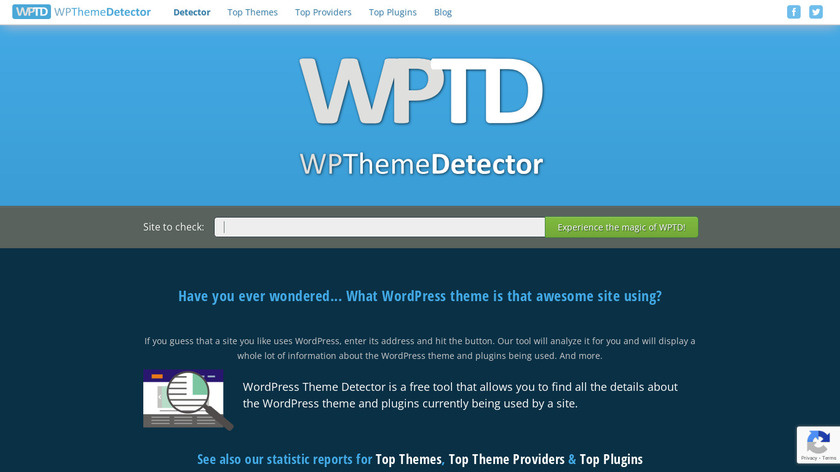 WPThemeDetector Landing Page