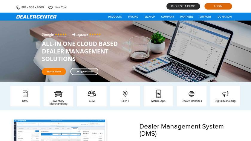DealerCenter Landing Page