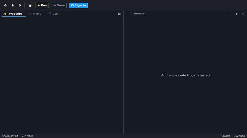 JSitor Landing Page