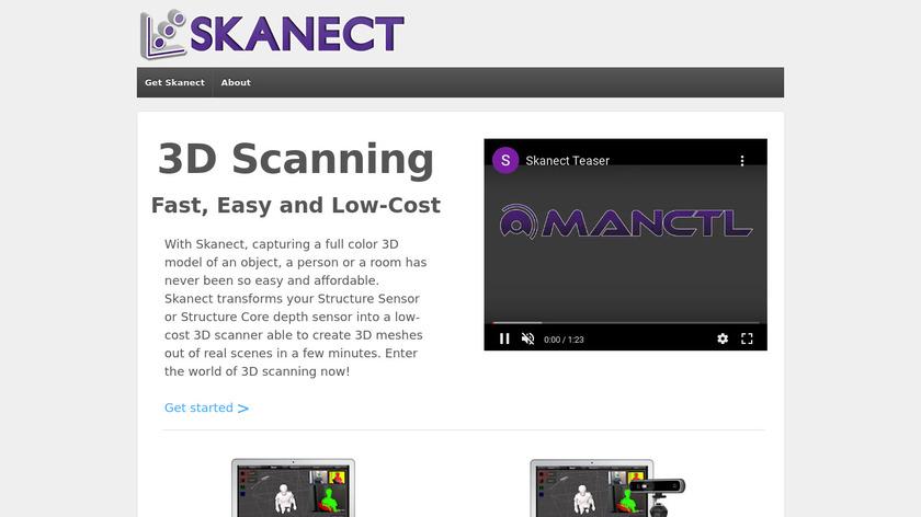 Skanect Landing Page