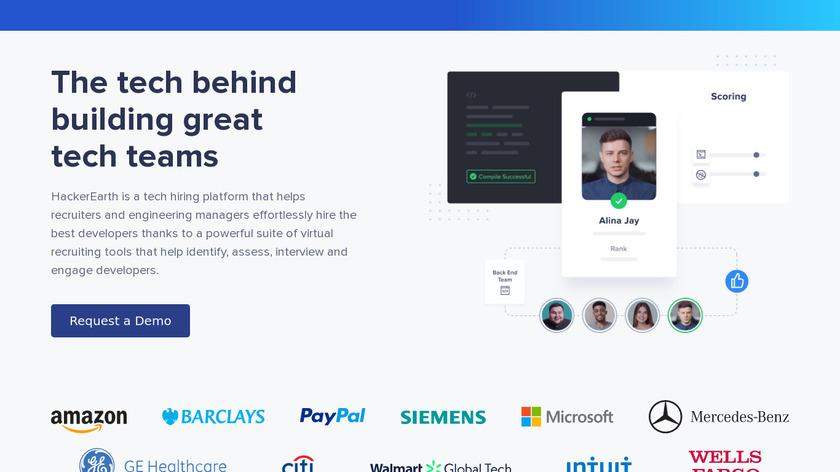 HackerEarth Recruit Landing Page