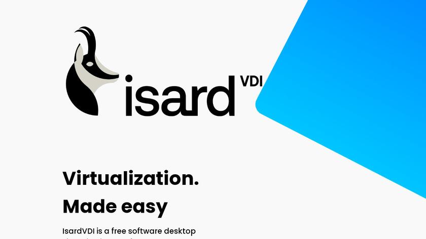 IsardVDI Landing Page