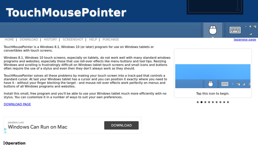 TouchMousePointer Landing Page