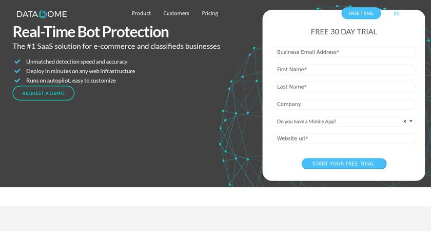 DataDome Landing Page