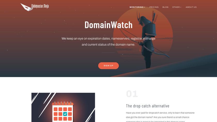 DomainWatch Landing Page