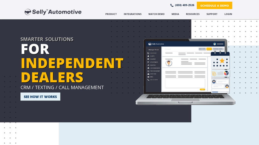 Selly Automotive Landing Page