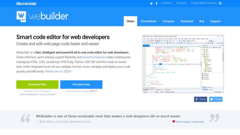 WeBuilder Landing Page