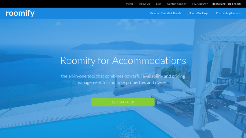 Roomify for Accommodations Landing Page