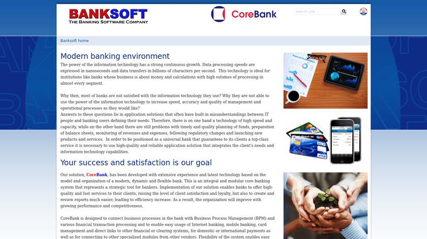 CoreBank Landing Page