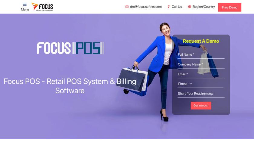 Focus POS Landing Page