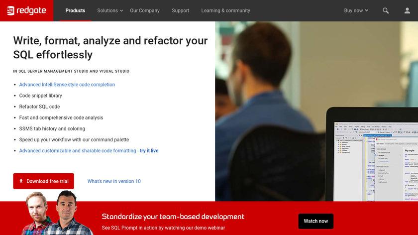 SQL Prompt Landing Page
