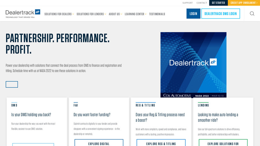 Dealertrack Landing Page