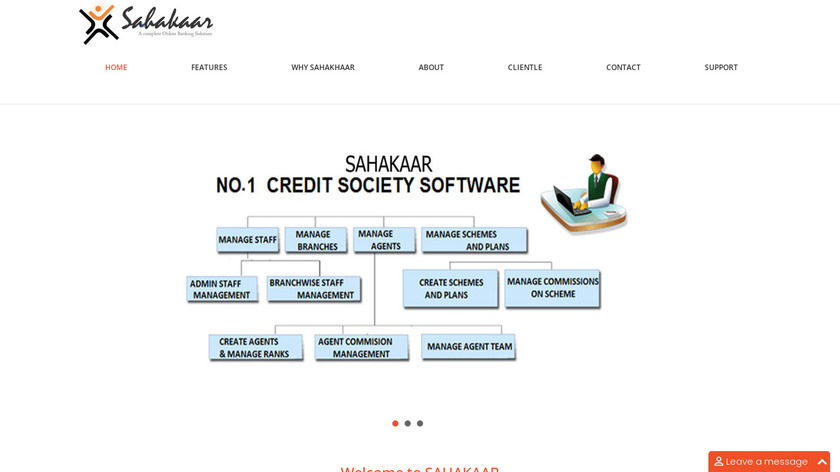 Credit Cooperative Society Software Landing Page