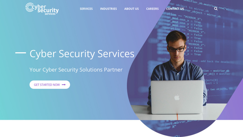 Cyber Security Services Landing Page