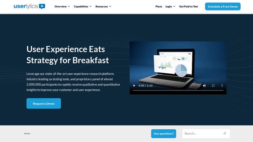 Userlytics Landing Page