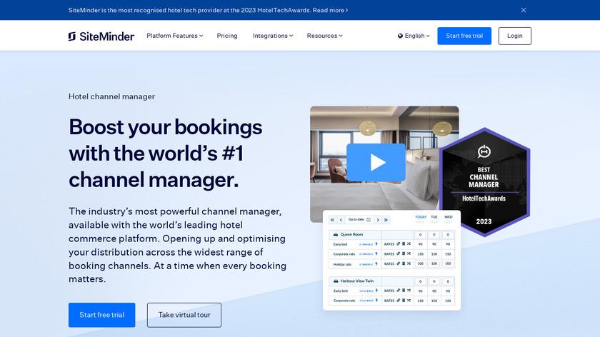 SiteMinder Channel Manager Landing Page