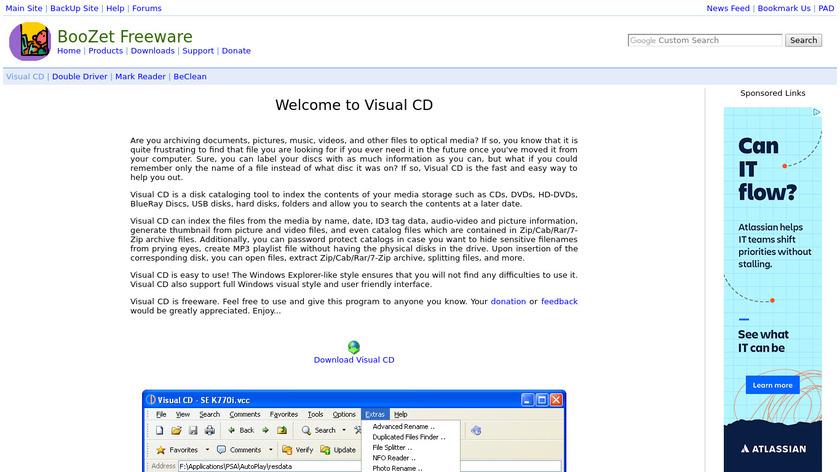 Visual CD Landing Page