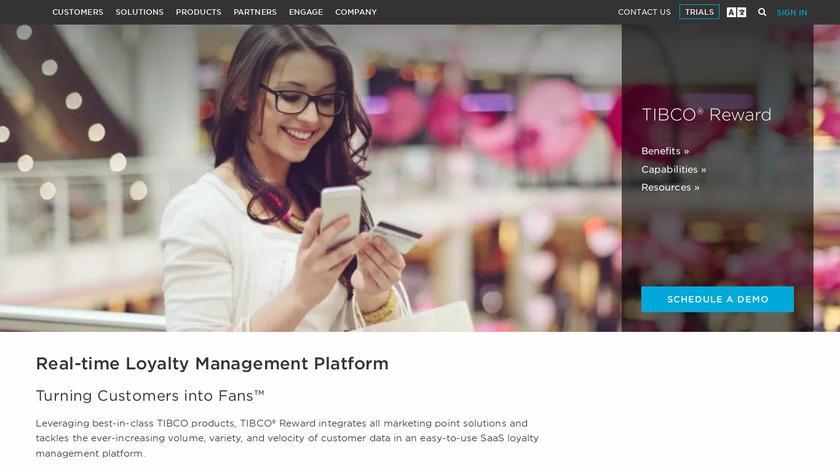 TIBCO Reward Landing Page