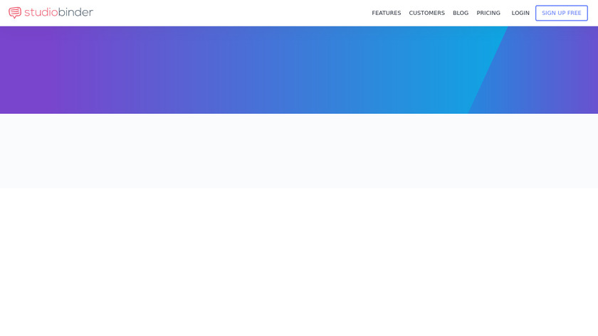 StudioBinder Landing Page