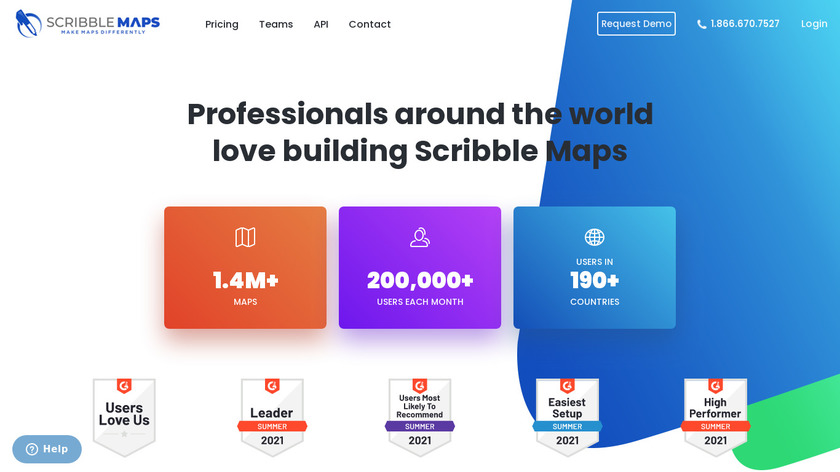Scribble Maps Landing Page