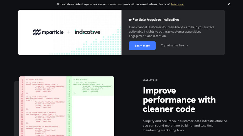 mParticle Landing Page