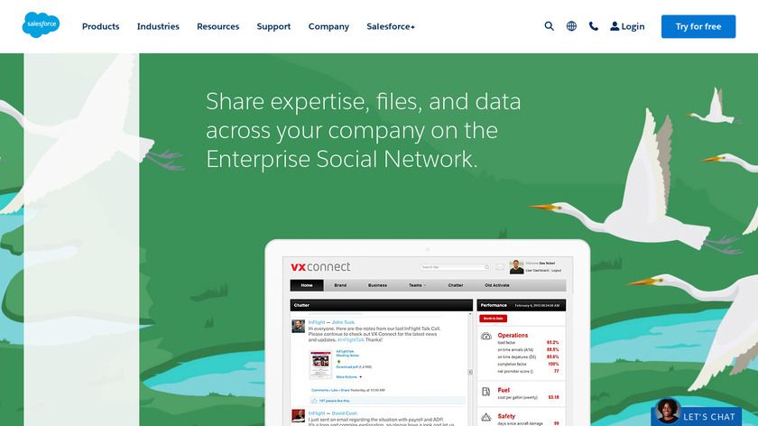 Salesforce Chatter Landing Page